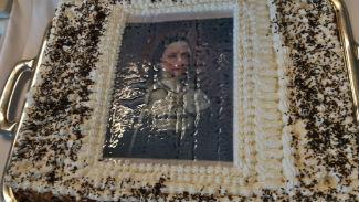 Gâteau du bicentenaire avec le portrait de la Fondatrice, Mère Adèle