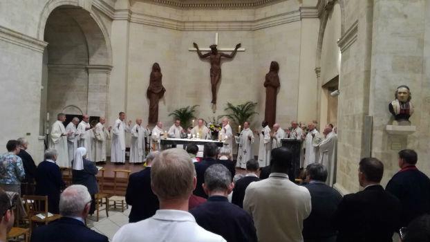 Messe du 2 octobre 2017 avec renouvellement des voeux des religieux marianistes