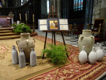 Triptyque et cuves de Cana pour la messe du bicentenaire SM